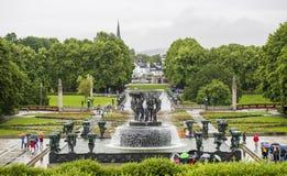 Vigelandpark/Frognerpark Oslo noorwegen Royalty-vrije Stock Afbeeldingen