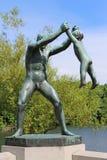 Vigelands Park. The Frogner Park contains the world famous Vigeland Sculpture Park (Vigelandsanlegget) designed by Gustav Vigeland. Oslo. Norway Royalty Free Stock Photography