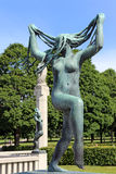 Vigelands Park. Oslo stock photo