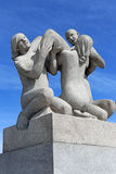 Vigelands Park. Oslo. Sculpture at the Gustav Vigelands Park (Frognerpark) in Oslo. Norway Royalty Free Stock Photos