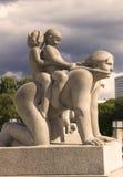 Vigelandsparken雕塑公园 免版税库存图片