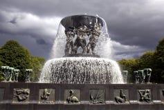 Vigelandsparken skulptur parkerar Fotografering för Bildbyråer