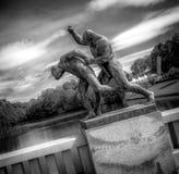 Vigelandstandbeelden in Frogner-Park Stock Foto