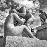 Vigelandstandbeelden in Frogner-Park Royalty-vrije Stock Afbeeldingen