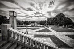 Vigelandstandbeelden in Frogner-Park Royalty-vrije Stock Foto