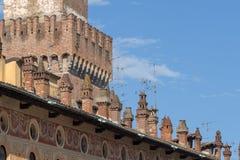 Vigevano, Италия: историческая аркада Дукале стоковое фото rf