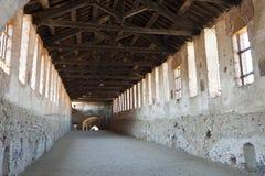 Vigevano, abgedeckte Straße des Schlosses Stockfoto