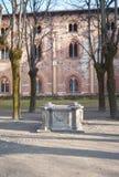 Vigevano, fachada del palacio de Ducale Imagen del color Fotos de archivo