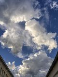 Vigevano, italy: cloudscape at evening royalty free stock photos