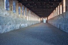 Vigevano, la via coperta Immagine di colore Fotografia Stock Libera da Diritti