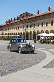 Vigevano, Piazza Ducale. Vigevano (Pavia, Lombardy, Italy) - Piazza Ducale, historic square of the Renaissance era and car for a marriage Stock Photography