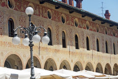 Vigevano, Piazza Ducale. Vigevano (Pavia, Lombardy, Italy) - Piazza Ducale, historic square of the Renaissance era Stock Photo