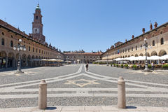 Vigevano, Piazza Ducale Stock Images