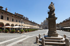 Vigevano, Piazza Ducale Stock Photos