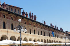 Vigevano, Piazza Ducale Royalty Free Stock Photography