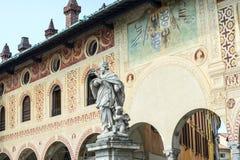 Vigevano: Piazza Ducale Fotografie Stock