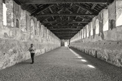 Vigevano - Road Gallery Royalty Free Stock Photos