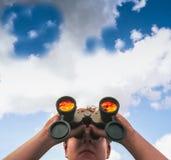 Vigia binocular Imagem de Stock