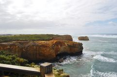 Vigia cênico da grande estrada do oceano Fotos de Stock Royalty Free