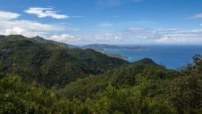Vigia do alojamento da missão em Seychelles fotografia de stock