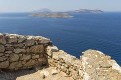 Vigia do castelo de Kritinia Fotografia de Stock
