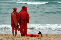 Vigia dos Lifeguards foto de stock royalty free