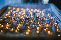 Vigil candle set up Royalty Free Stock Photos