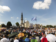 Vigil Catholic Charismatic Renewal. CZESTOCHOWA, POLAND - May 16, 2015: Vigil Catholic Charismatic Renewal meeting Czestochowa Poland, in front of Jasna Gora Stock Images