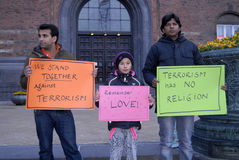 Vigil gethering for innocent victims of terrorism in Pakistn Royalty Free Stock Images
