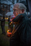 Vigil for Newtown shooting victims. Stock Photos