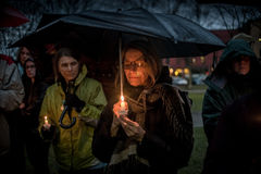 Vigil for Newtown shooting victims. Stock Image