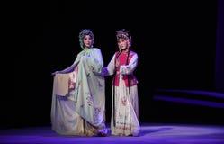 "Vigil in the Night-Cui Yingying 's disease-Kunqu Opera ""the West Chamber"". In May 17, 2015, the Suzhou Kunqu opera classic Kunqu Opera Xixiangji staged in Royalty Free Stock Photography"