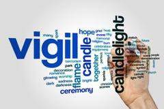 Vigil word cloud concept Stock Photo