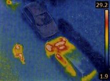 Vigilancia de la toma de imágenes térmica Fotografía de archivo libre de regalías