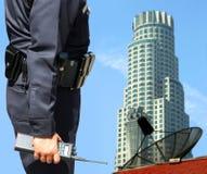 Vigilancia del agente de seguridad Imagen de archivo libre de regalías
