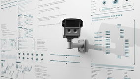Vigilancia del concepto de la cámara de seguridad, seguridad en el hogar IoT, Internet de la tecnología de la cosa con el diverso