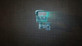 Vigilancia del concepto de la cámara de seguridad, tecnología 2 del iot de la seguridad en el hogar stock de ilustración
