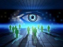 Vigilancia del web ilustración del vector