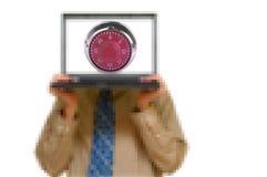 Vigilante de seguridad cibernético imágenes de archivo libres de regalías