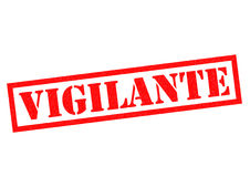 VIGILANTE. Red Rubber Stamp over a white background Royalty Free Stock Photos