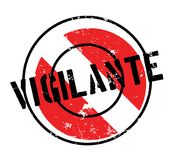 Vigilante rubber stamp. Grunge design with dust scratches. Effects can be easily removed for a clean, crisp look. Color is easily changed Royalty Free Stock Photo