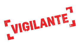 Vigilante rubber stamp. Grunge design with dust scratches. Effects can be easily removed for a clean, crisp look. Color is easily changed Stock Image