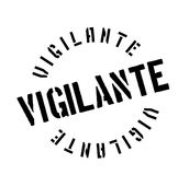 Vigilante rubber stamp. Grunge design with dust scratches. Effects can be easily removed for a clean, crisp look. Color is easily changed Royalty Free Stock Photography