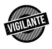 Vigilante rubber stamp. Grunge design with dust scratches. Effects can be easily removed for a clean, crisp look. Color is easily changed Royalty Free Stock Images