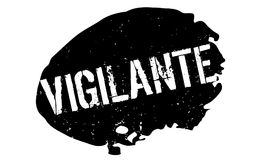 Vigilante rubber stamp. Grunge design with dust scratches. Effects can be easily removed for a clean, crisp look. Color is easily changed Royalty Free Stock Photos