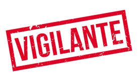 Vigilante rubber stamp. On white. Print, impress overprint Stock Photography
