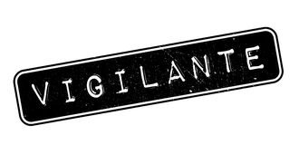 Vigilante rubber stamp. On white. Print, impress overprint Royalty Free Stock Photos