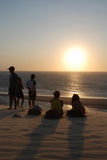 Vigilantes de la puesta del sol fotos de archivo libres de regalías