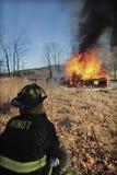 Vigilanza del fuoco Immagine Stock