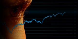 Vigilanza del mercato azionario Fotografie Stock Libere da Diritti